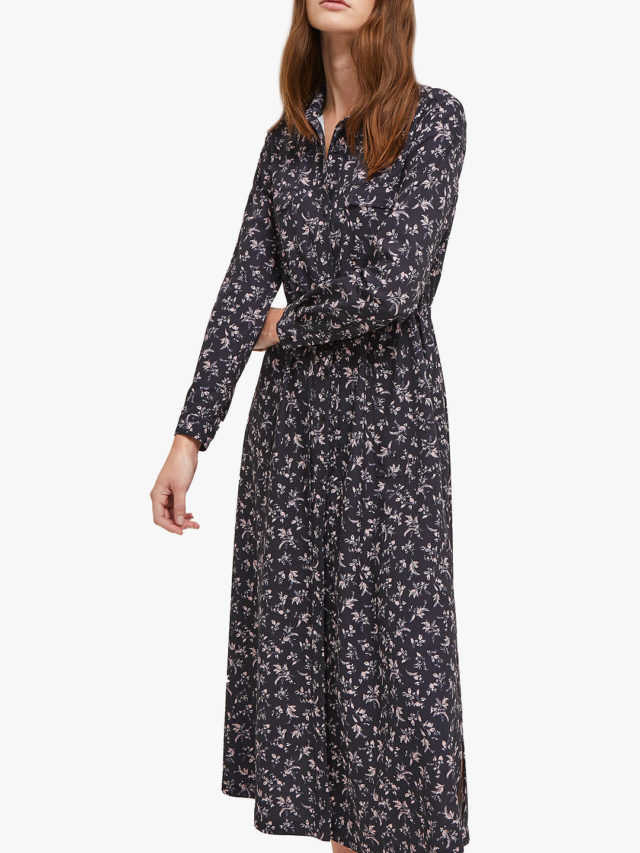 over 50 style blue floral dress