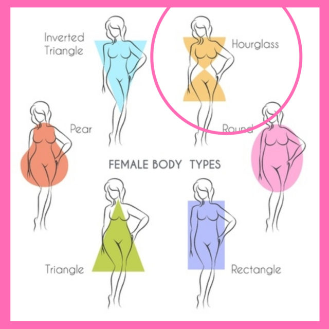dressing for body shape hourglass image