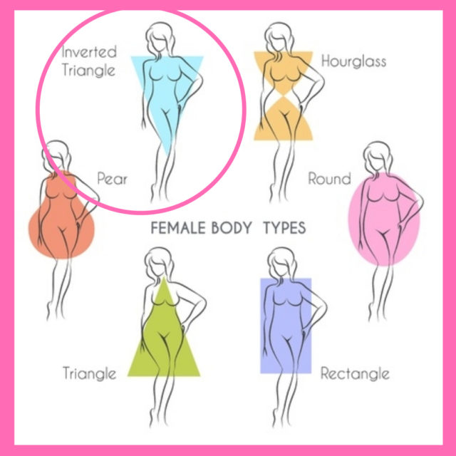 dressing for body shape inverted triangle image
