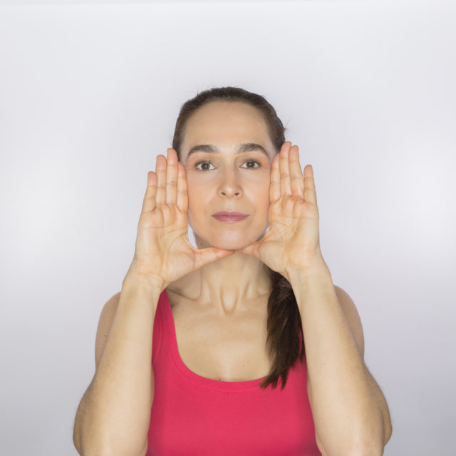 facial exercise for triangle of youth image