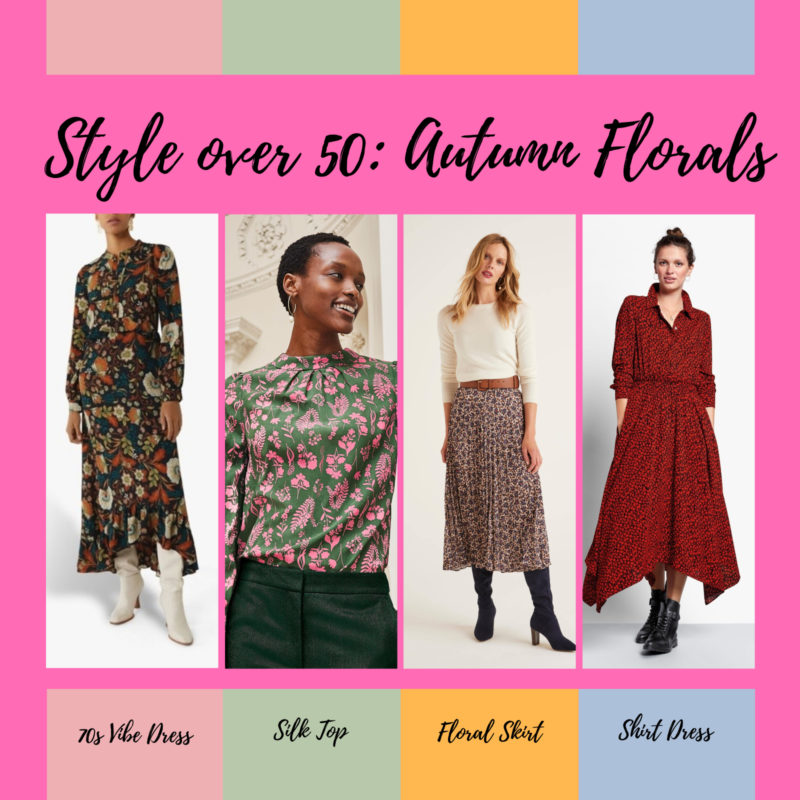 Ab Fab 50: Style Over 50 : Autumn Trends – Dark Florals