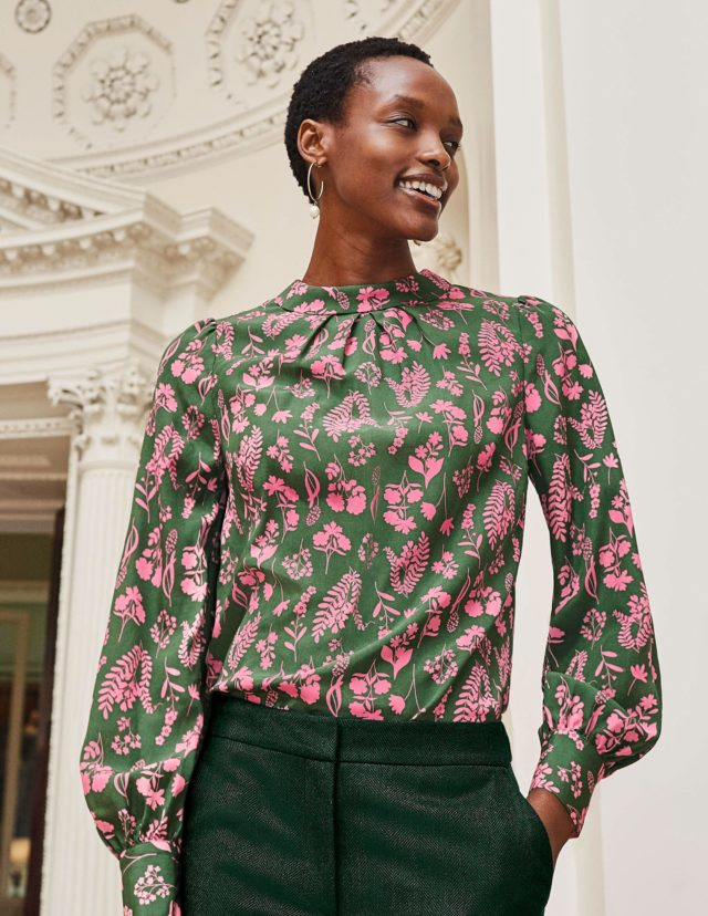 chic floral blouse style over 50 image
