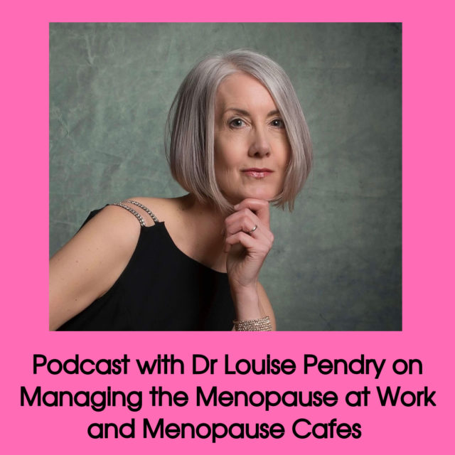 pocast with Dr Louise Pendry on menopause Cafes image