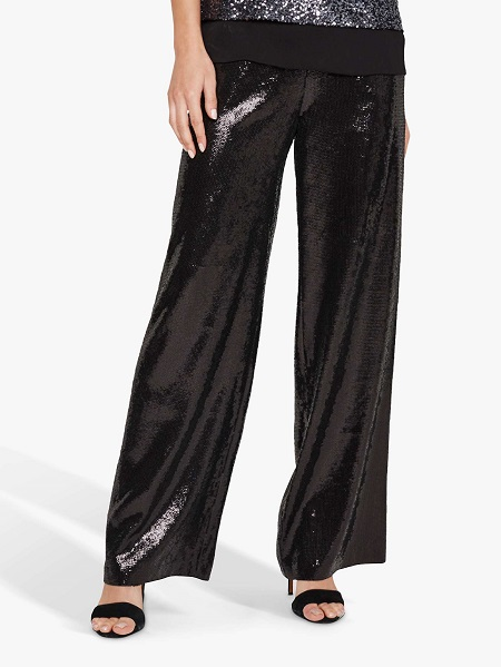 wide legged sequin trousers over 50 image