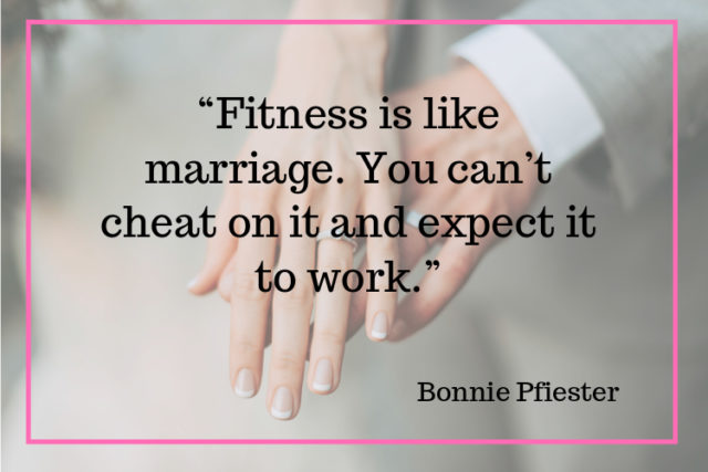 fitness is like a marriage quote image