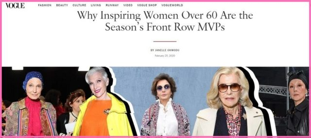 over 60 fashion week influencers vogue image
