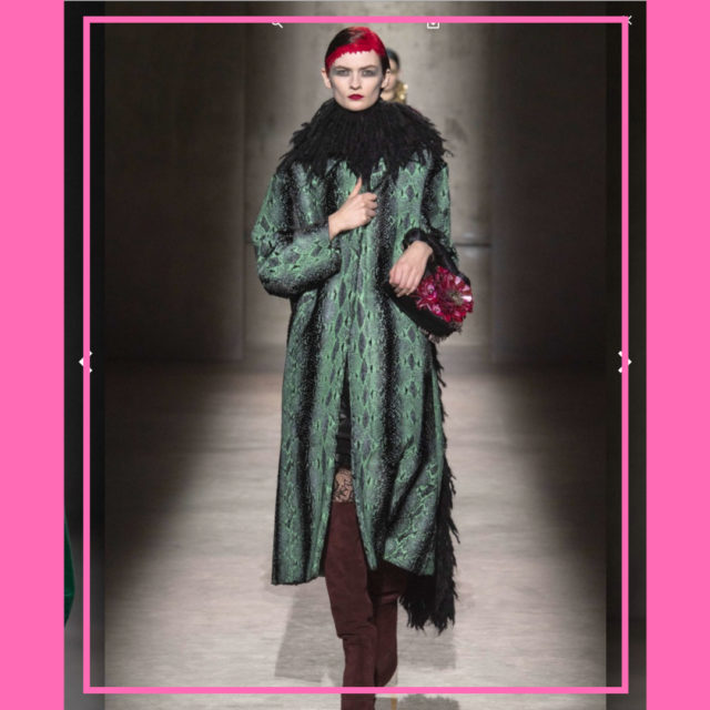 style over 50 print coat image