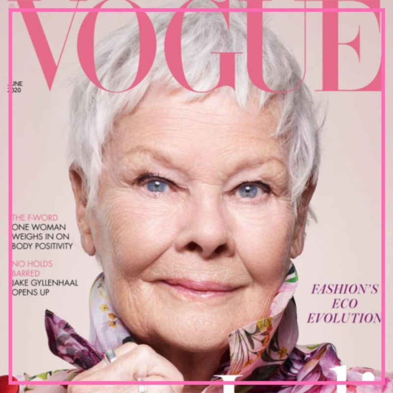 judi dench oldest vogue cover girl image