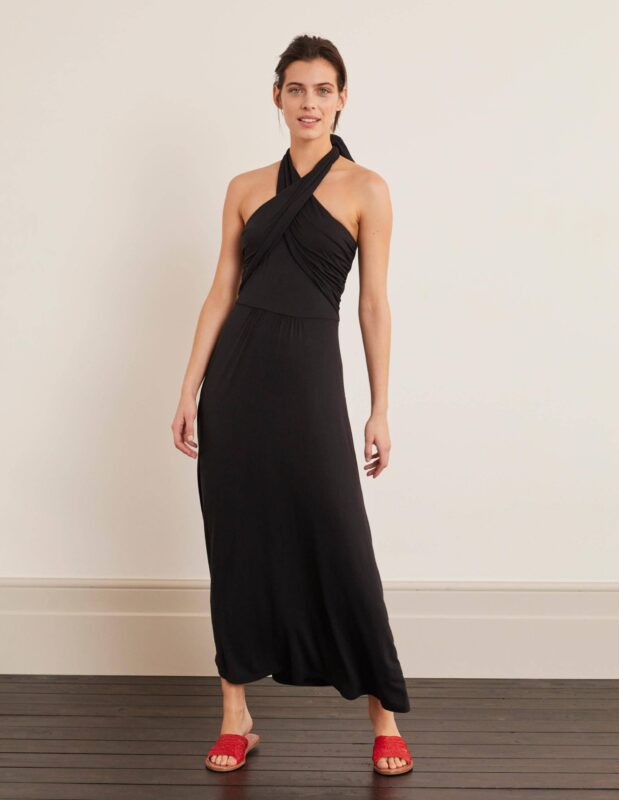 summer style over 50 black maxi dress image