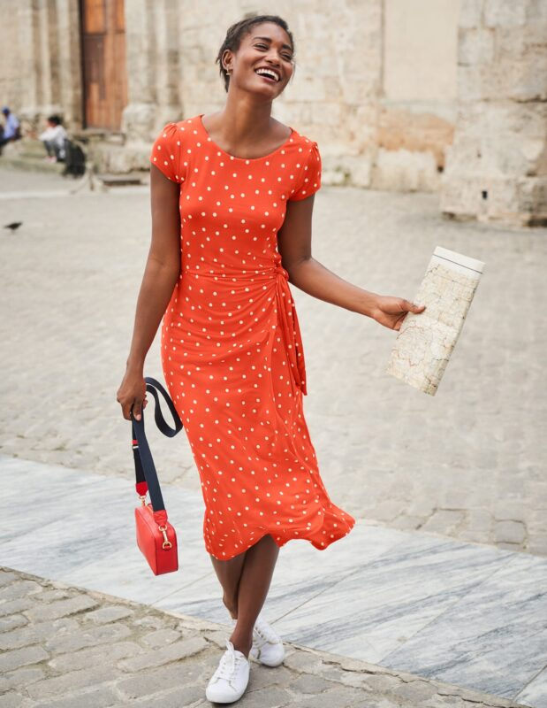 summer sale style over 50 orange dress image