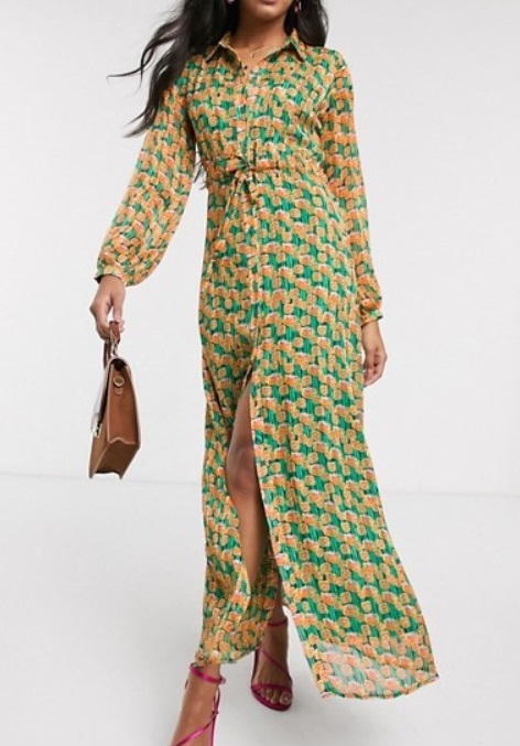 spohisticated maxi dress for women over 50 image