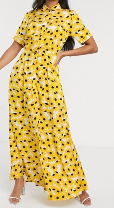 yellow xi with sleeves for women over 50 image