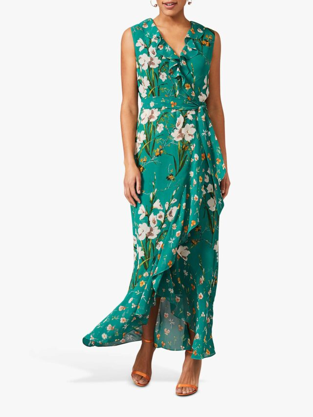 wrap maxi dress for women over 50 image