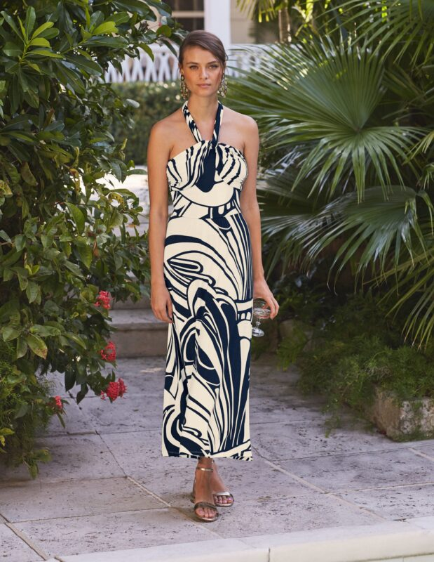 style over 50 summer swirl maxi dress image