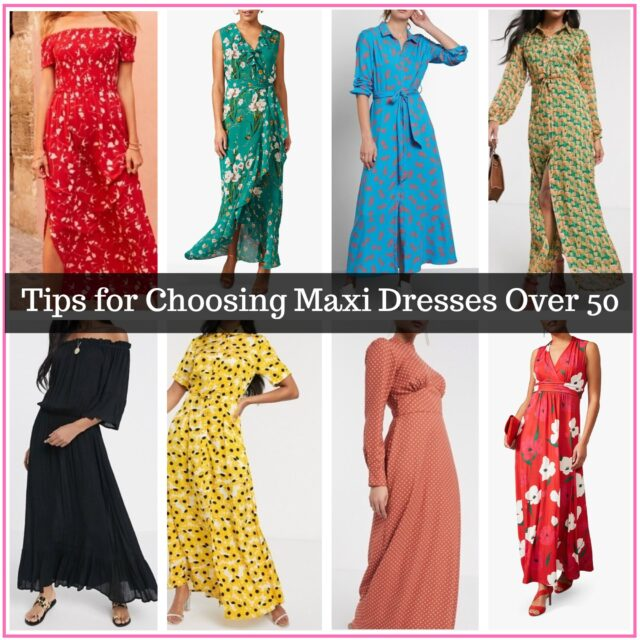 Best maxi dresses for women over 50 image