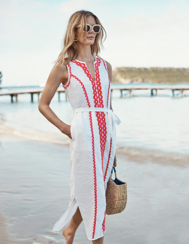 style over 50 white holiday dress image