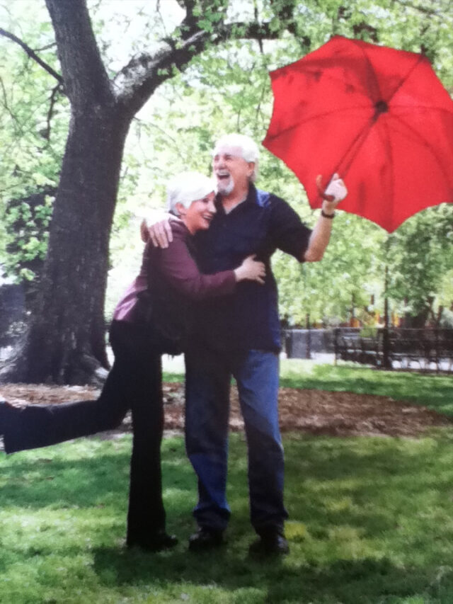 olympia dukakis with husband image