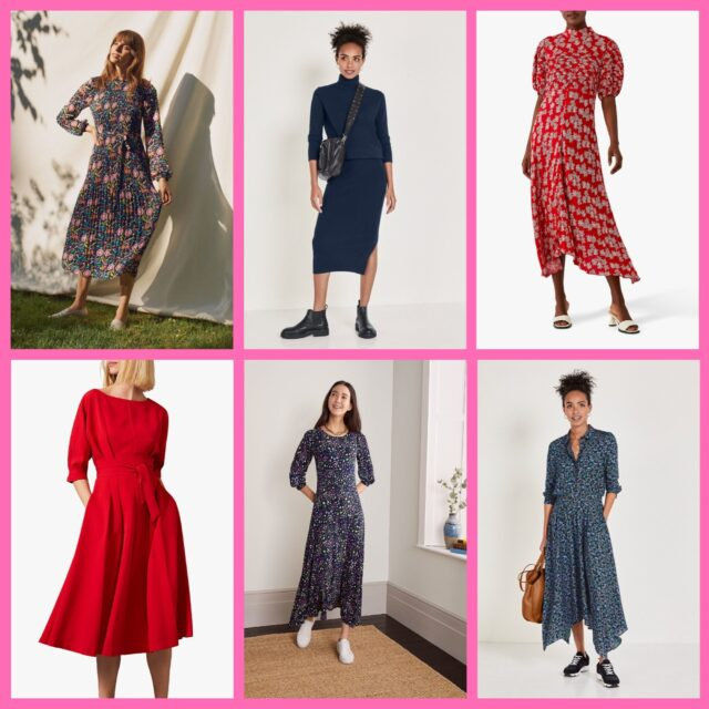 dresses with sleeves to be stylish over 50 autumn 2020 image