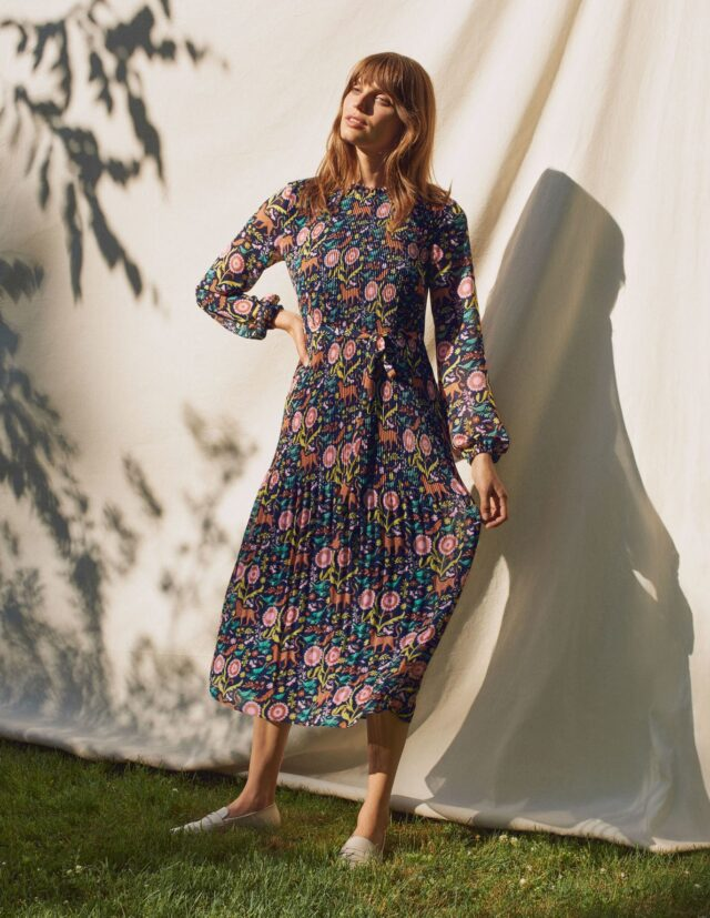 autumn dress with sleeves style over 50 image