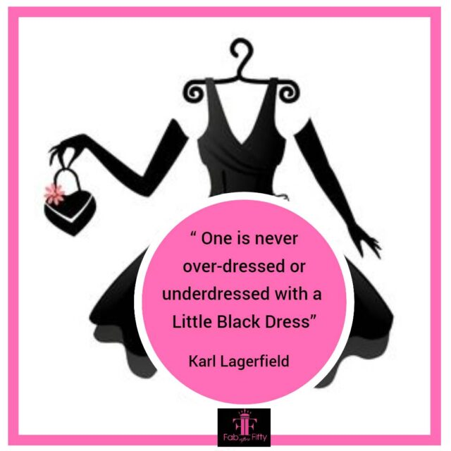 style over 50 little black drets quote image