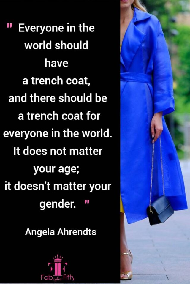 how to wear a statement coat over 50 quote image