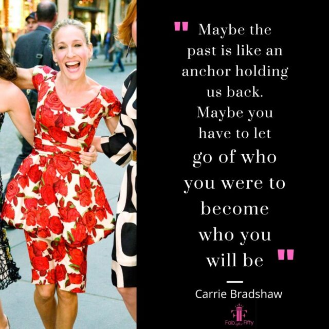 carrie bradshaw quote about life sex and the city image