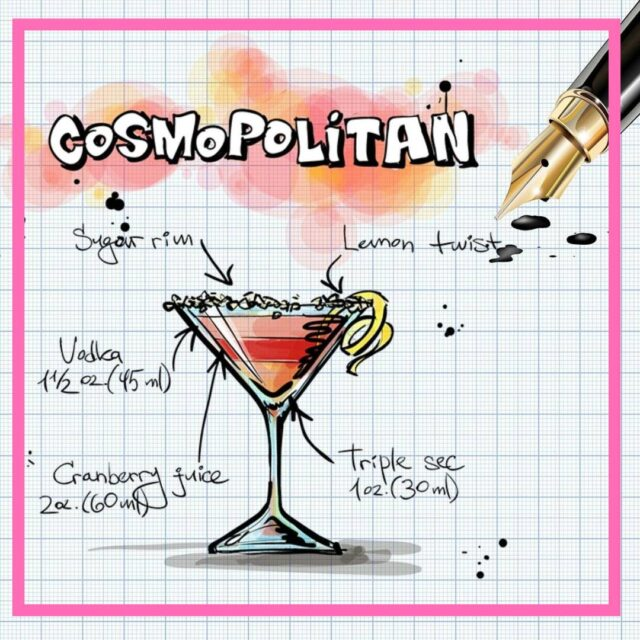 cosmopoltan cocktail recipe image