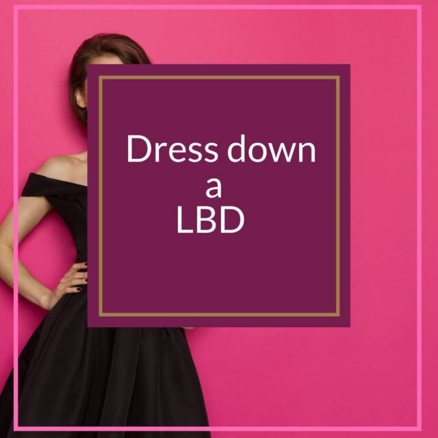 Dress down a little black dress challenge style over 50