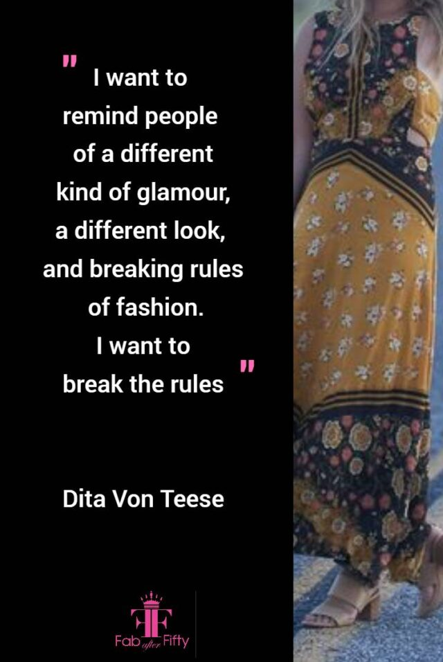 How to break fashion rules over 50 quote image