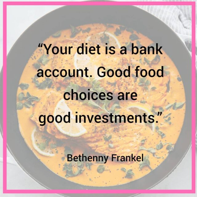 healthy diet quote image