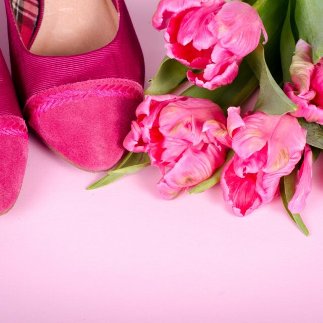wear pink accessories over 50