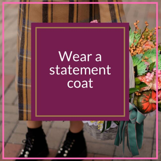 wear a statement coat to look fabulous over 50 image