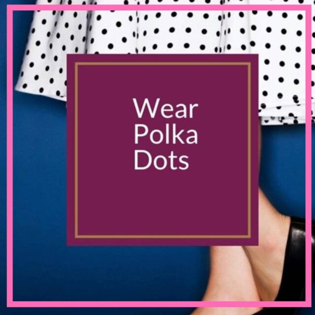 how to wear polka dots over 50 image