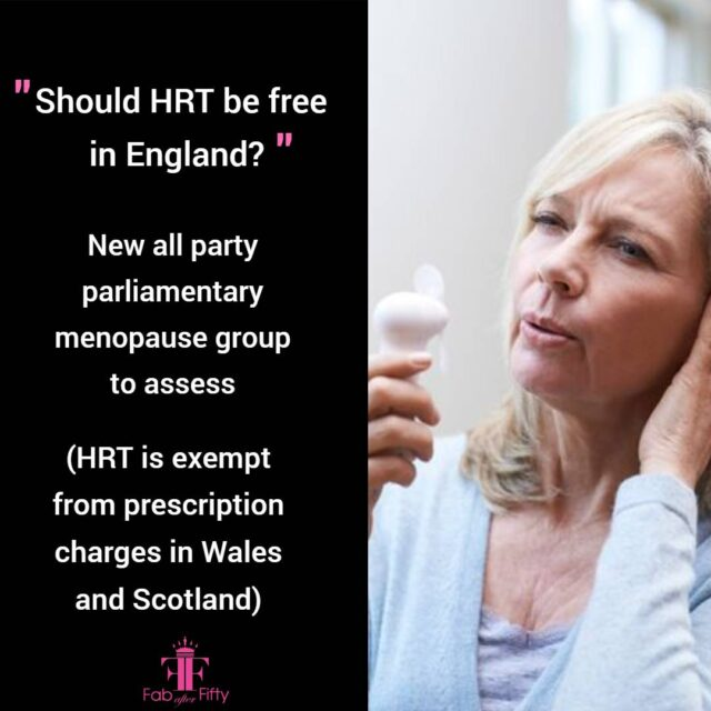 Should HRT be free in England image