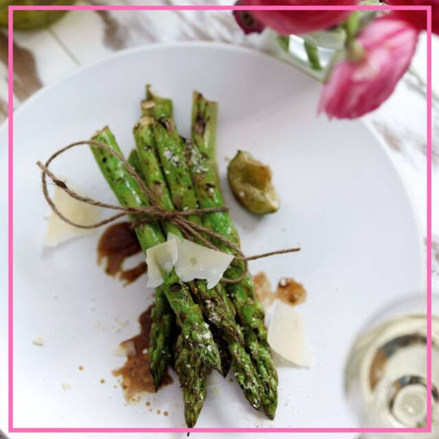 healthy bbq recipe Asparagus with lime image