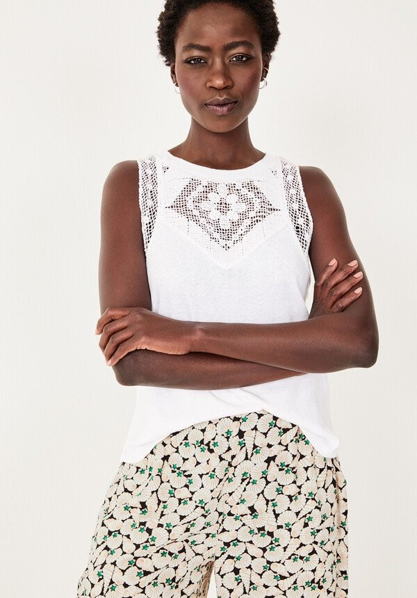 staycation style over 50 white top