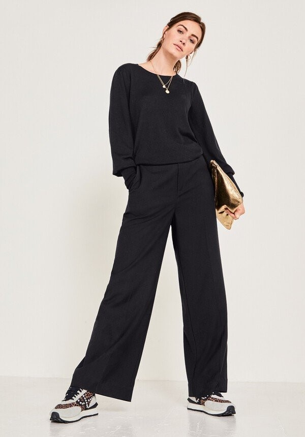 staycation over 50 style wide legged trousers image