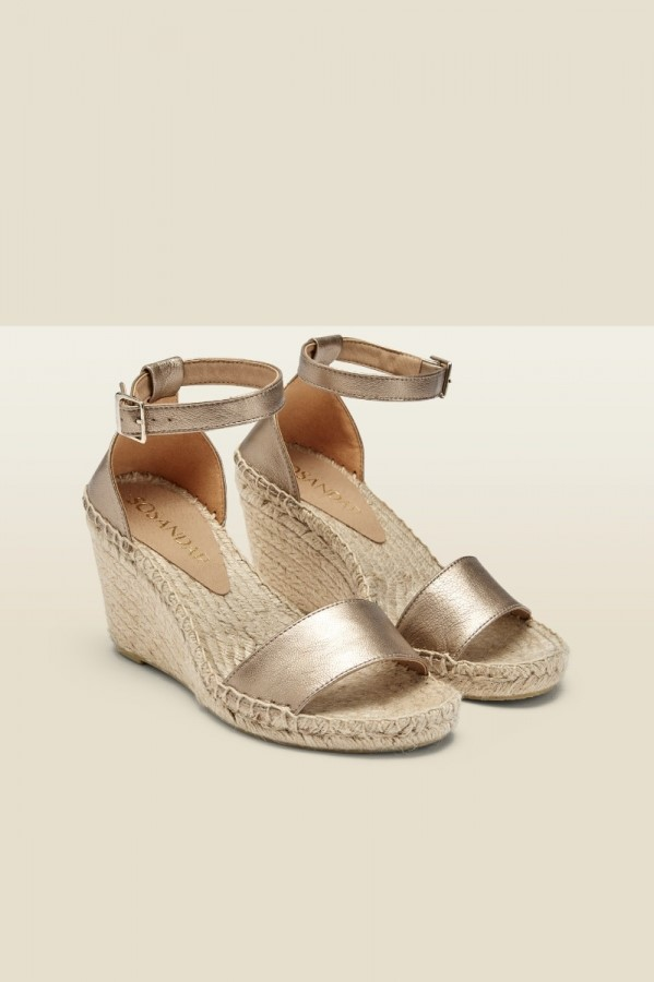 staycation style over 50 espadrill wedge sandal image