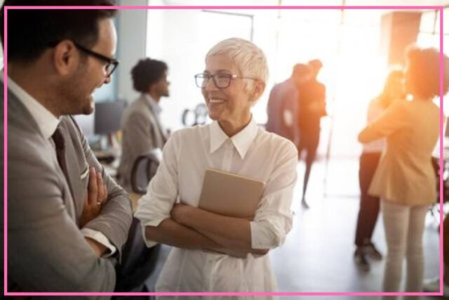 networking tips for women over 50 image